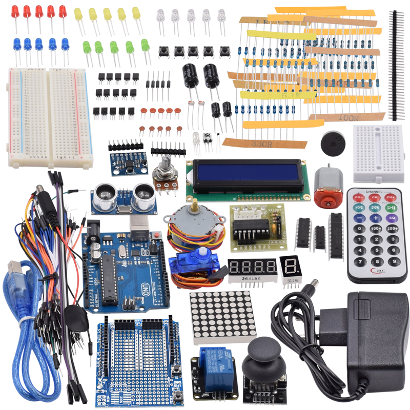 Kit de démarrage ultime avec capteur à ultrasons, UNO R3, LCD1602 écran pour Arduino Mega2560 UNO Nano avec boîte en plastique