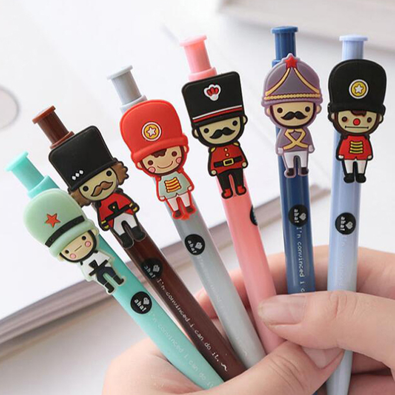 20 Pcs/lot Cartoon Cute Ball Point Pen Stationery High Quality Ballpoint Pens Sign Pen School Office Gift Supplies Writing Pens pilot dr grip pure white retractable ball point pen