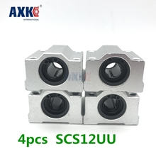 High Quality 4 Pcs Sc12uu Scs12uu Linear Motion Ball Bearings Slide Block Bushing For 12mm Linear Shaft Guide Rail AXK SC12 цена в Москве и Питере