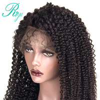 Pre Plucked 360 Lace Frontal Wig Brazilian Kinky Curly Remy Human Hair 360 Lace Wigs Natural Hairline With Baby Hair