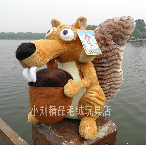 lovely squirrel font b plush b font doll simulation squirrel toy dolls birthday gift about 35cm