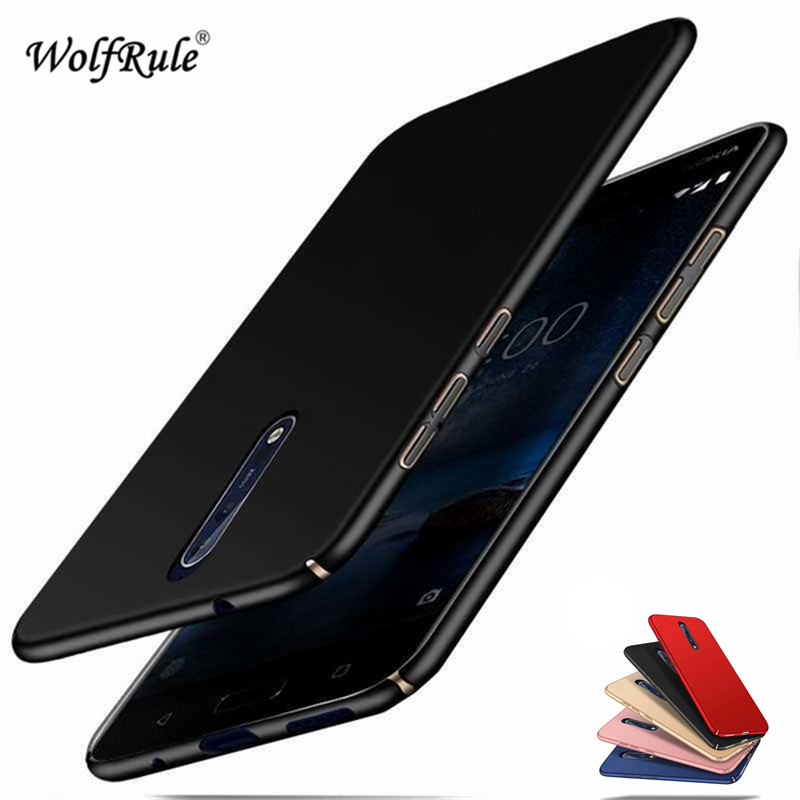 WolfRule sFor Phone Case <font><b>Nokia</b></font> 8 Cover Ultra-thin Smooth Back Protection Plastic PC Case For <font><b>Nokia</b></font> 8 Shell <font><b>TA</b></font>-1012 <font><b>1004</b></font> Funda > image