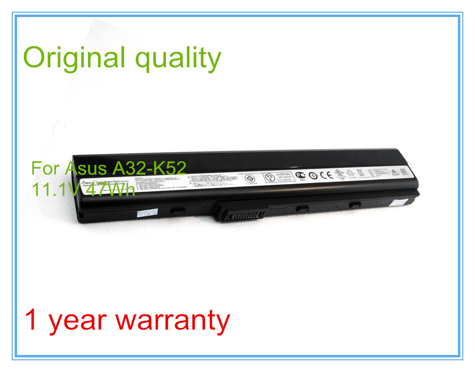 4400mAh Original Laptop Battery A32-K52 for A52F A52J K52D K52DR K52F K52J K52JC K52JE K52N X52J A31-K52 A41-K52 6CELL kingsener japanese cell a32 k52 battery for asus a52 a52f a52j k52 k52d k52dr k52f k52j k52jc k52je k52n a41 k52 a31 k52 a42 k52