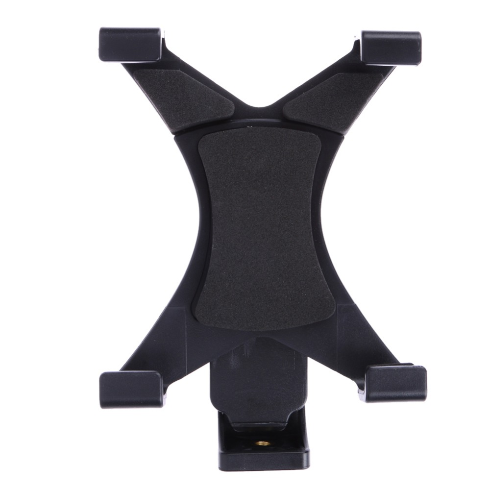 Universal Black Tablet Tripod Mount Clamp Adapter Holder Bracket Clamp 1/4 Thread Adapter for 7~10.1 Tablets Pad High Quality universal steel sling mount adapter black