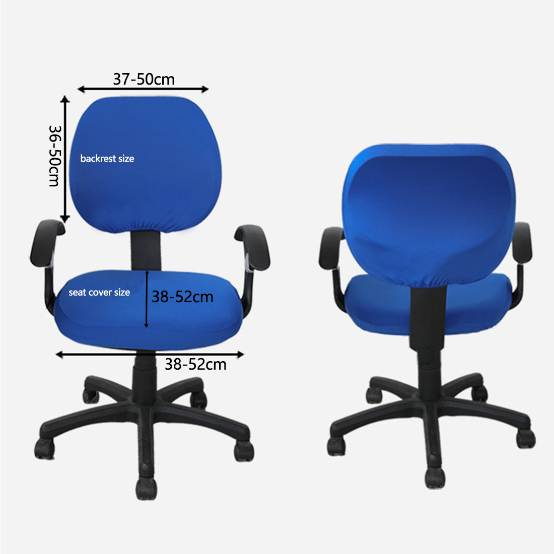 spandex elastic fabric seat covers for computer chairs office chairs
