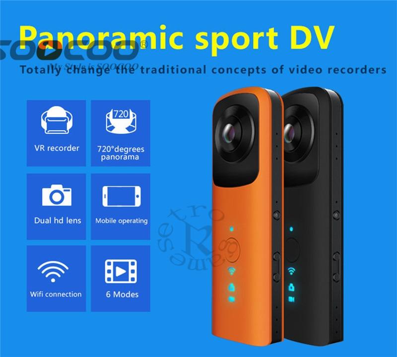 DHL HB720 Handheld Dual-lens Panoramic Outdoor Sports Camera VR HD 4K Camera Built-in WIFI AP Contact Phone