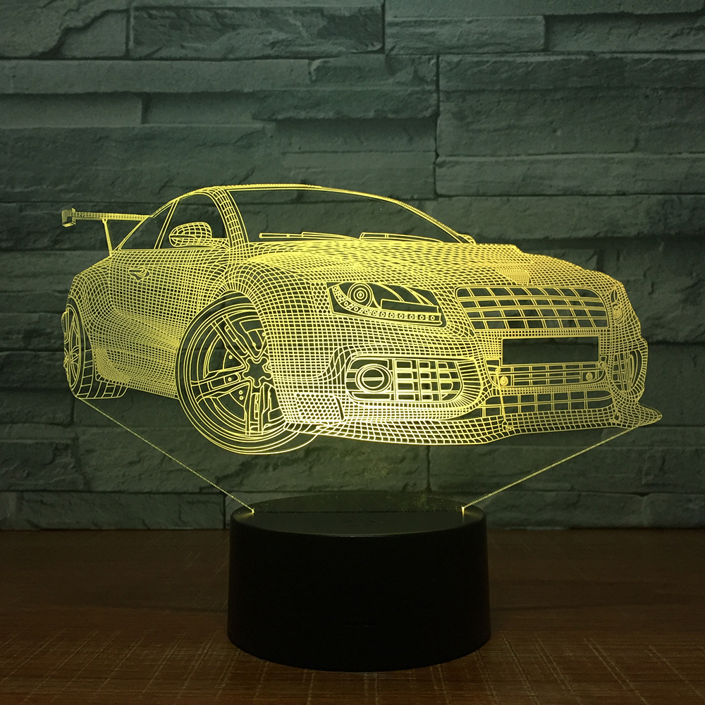 Super Car Touch Table Lamp 7 Colors Changing Desk Lamp 3D Lamp Novelty Led Night Lights For Local Shop Retail or Drop Shipping