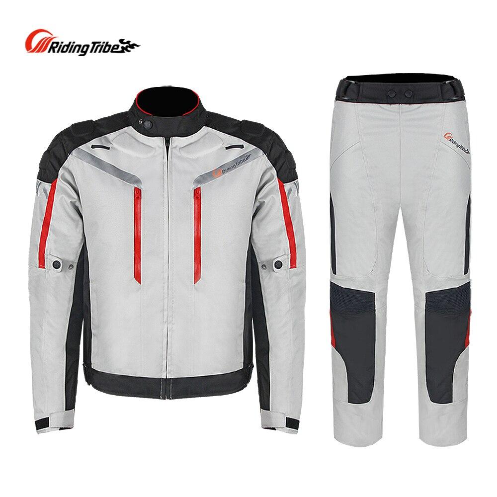 Équitation tribu professionnel Moto sécurité combinaison Moto veste pantalon costume hiver imperméable course vêtements 4 saison JK-40A