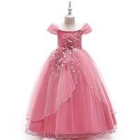 e9676a0b5c Girl Party Dress Flower Wedding Dress For Girl Kids Maxi Dresses Pageant  Princess Girls Birthday Tutu