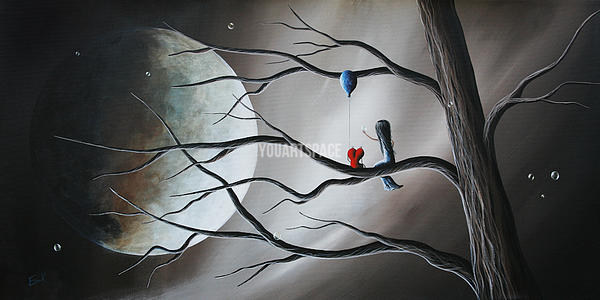Black white and red beautiful serene art by shawna erback landscape wall art oil painting
