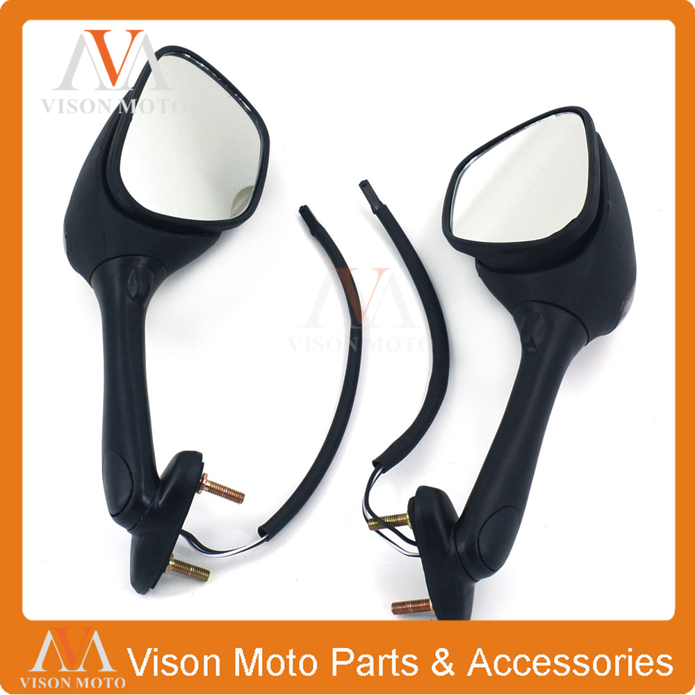 Motorcycle Side Mirror Rearview Turn Signal Rear View For SUZUKI GSXR600 GSXR750 06 07 2008 2009 2010 GSXR1000 GSXR 600 750 1000 motorcycle rear brake disc for suzuki gsxr600 gsxr750 gsxr1000 abs gsxr1100 sv650 svs650 sv1000 svs1000 tlr1000 tls1000 new