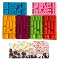 10 Agujeros En Forma de Bloques de Ladrillo de Lego Rectangular de Chocolate DIY Molde de Silicona Bandeja de Cubitos de Hielo Pastel de Fondant Fondant Herramientas Moldes