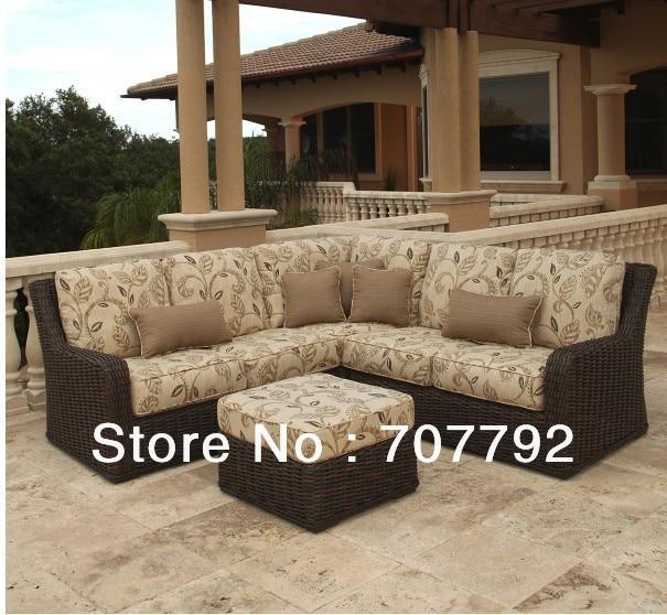 resina ronda sof de mimbre patio muebles de saln sof de jardn para sentarse