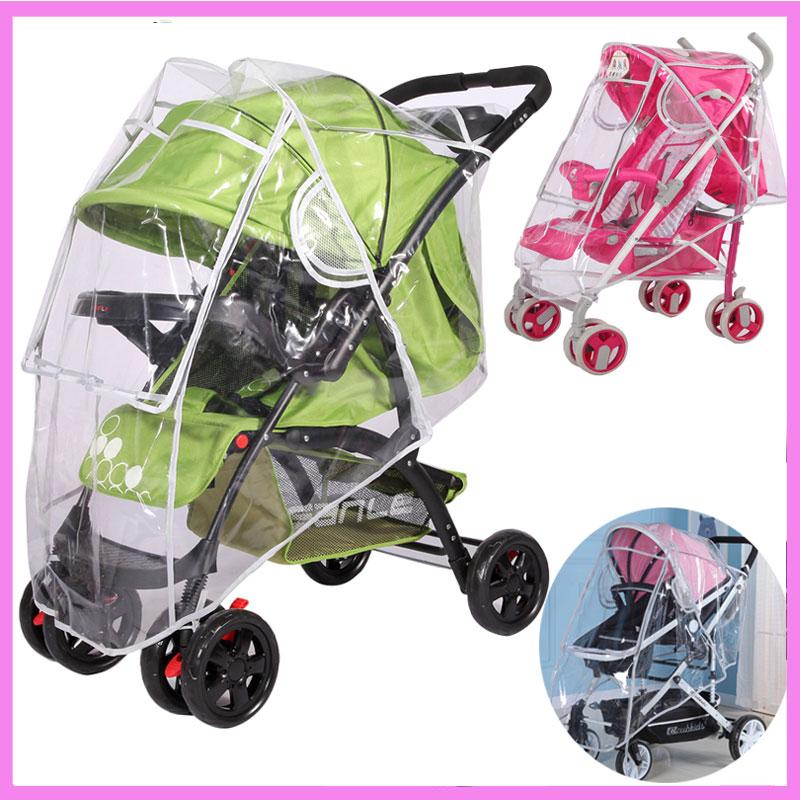 Universal Baby Stroller Rain Cover Windshield Dust Cover for Stroller Waterproof Rain Co ...