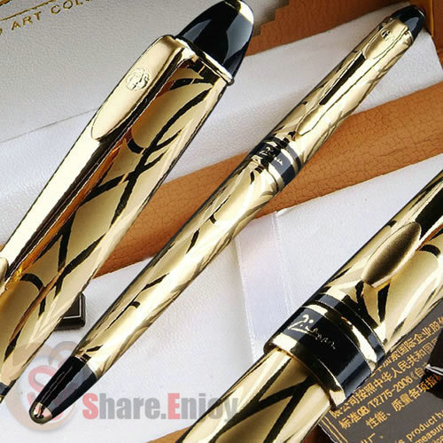 PICASSO 901 GOLDEN 18KGP FINE NIB FOUNTAIN PEN PARIS SENTIMENT rolsen rdb 901