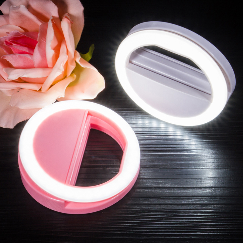 Z35 Mobile Phone Selfie Ring Flash Lens Beauty Fill Light Lamp Portable Clip For Photo Camera For Cell Phone Smartphone