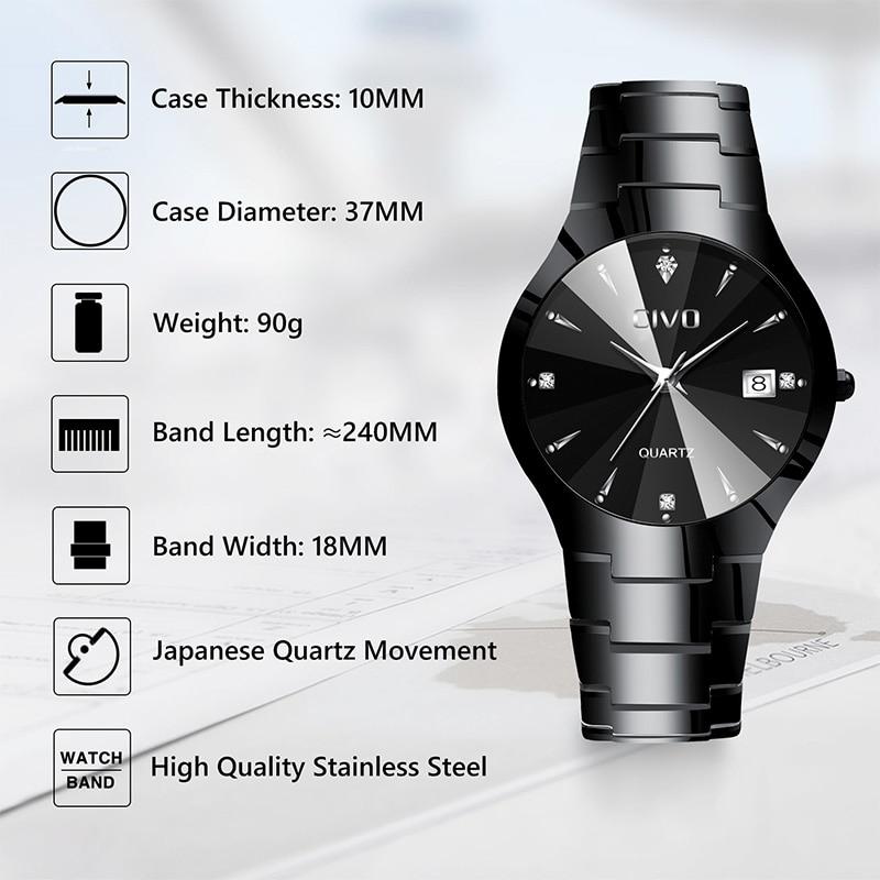 Image 4 - CIVO Relogio Masculino, reloj de marca de lujo para hombres, reloj de pulsera analógico impermeable, reloj de cuarzo para hombres, reloj de negocios informal para hombres y mujeresRelojes de cuarzo   -