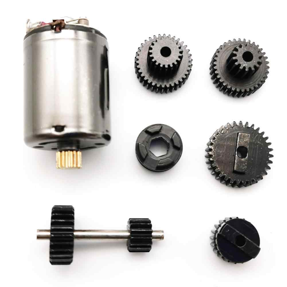 Juego WPL 1 engranajes metálicos originales con Motor 370 para caja de cambios de velocidad para B1 B24 B16 B36 C24 1/16 4WD 6WD Rc Coche