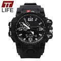 TTLIFE Mens Sports Stop Watch LED Dual Watch Digital Analog Clock Military Army Watches Men Water Resistant  Male Wrist Watch