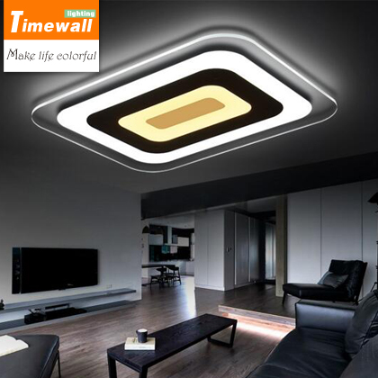 Super thin led modern minimalist living room lights rectangular ceiling lamps bedroom lamp lamp durable Restaurant brand new 5