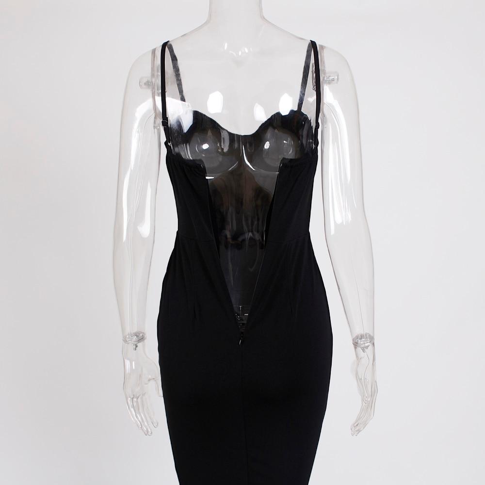 Strapless Split Front  Mermaid Sleeveless Elegant Dress 30