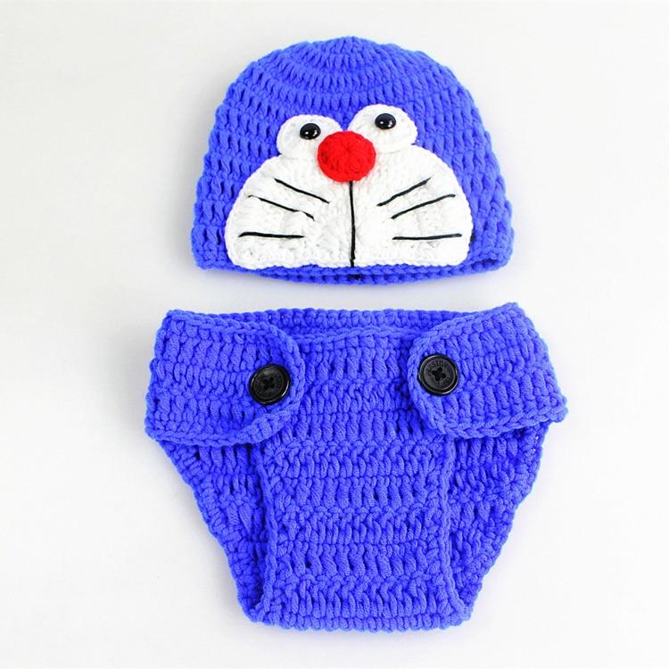 Cotton-Newborn-Photography-Props-Fotografia-Crochet-Infant-Baby-Hat-Pant-Shoes-Monster-Baby-Boy-Girls-Clothing-Set-Keepsake-09