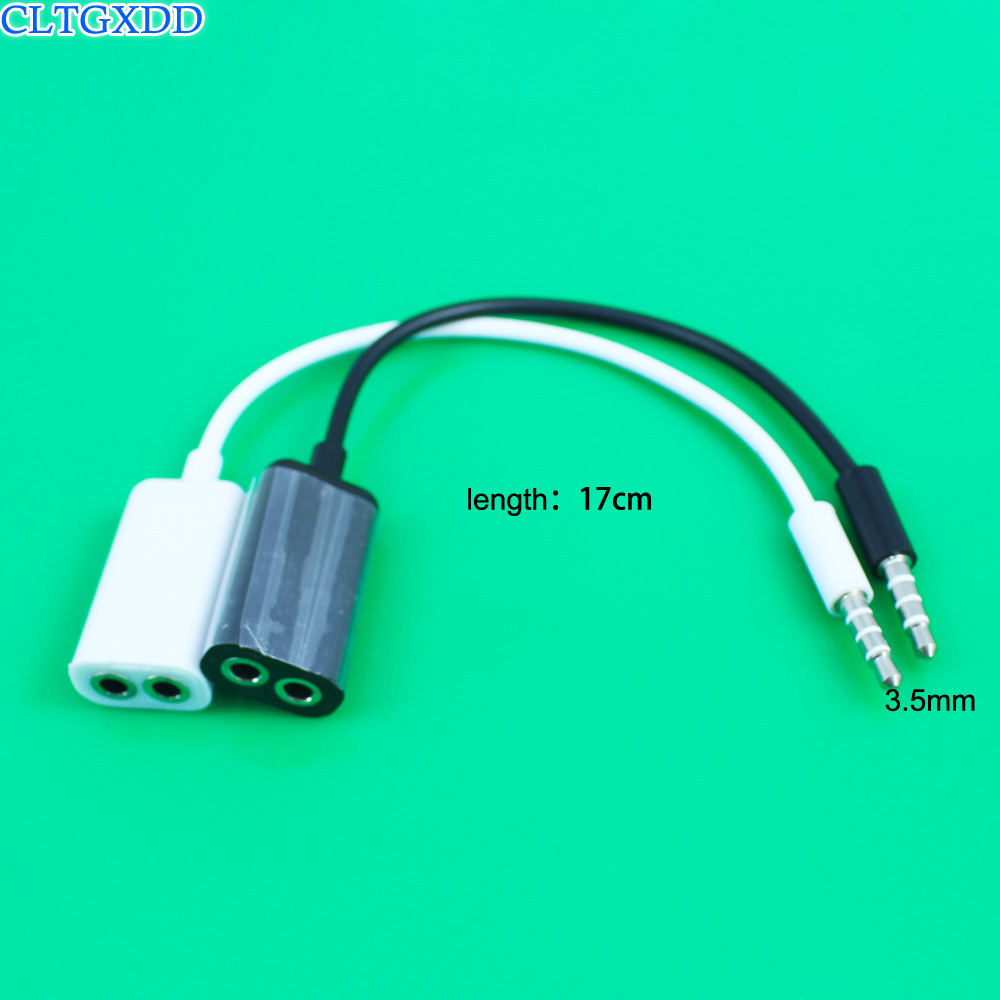 <font><b>Jack</b></font> <font><b>3.5</b></font> mm <font><b>to</b></font> Dual 3.5mm <font><b>Cable</b></font> <font><b>male</b></font> <font><b>to</b></font> <font><b>Female</b></font> Audio <font><b>cables</b></font> Splitter adapter two lovers Plug Stereo earphone For iphone samsung image