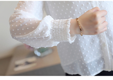spring long sleeve white blouse