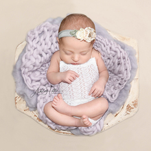 DJ Newborn Blanket Photography Prop 100% Wool Blanket Basket woolen Filler Stuffer Baby Soft Backdrop Photography Props
