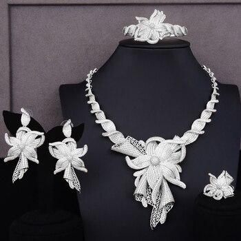 GODKI Famous Brand Charms Lariat Choker Luxury Statement Dubai Jewelry Sets For Women CZ Zircon Wedding Bridal Jewelry Sets 2019 5