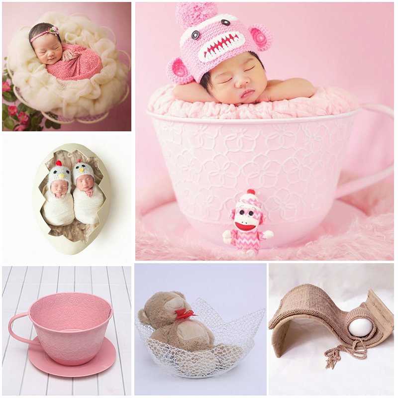 New Newborn Baby Photography Props Photo Studio Baby Photo Bed Baby Shooting Iron Car Props For Photo Shoots Flokati Newborn