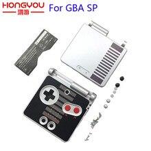 ゲームボーイアドバンス SP 古典的なファミコン限定版の交換 GBA SP 用ハウジングケースカバー