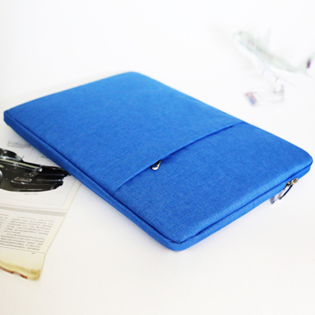Image 5 - Nylon Laptop Sleeve Notebook Bag Pouch Case for MacBook air pro 11.6 13.3 15 Unisex Liner Sleeve Simple-in Laptop Bags & Cases from Computer & Office
