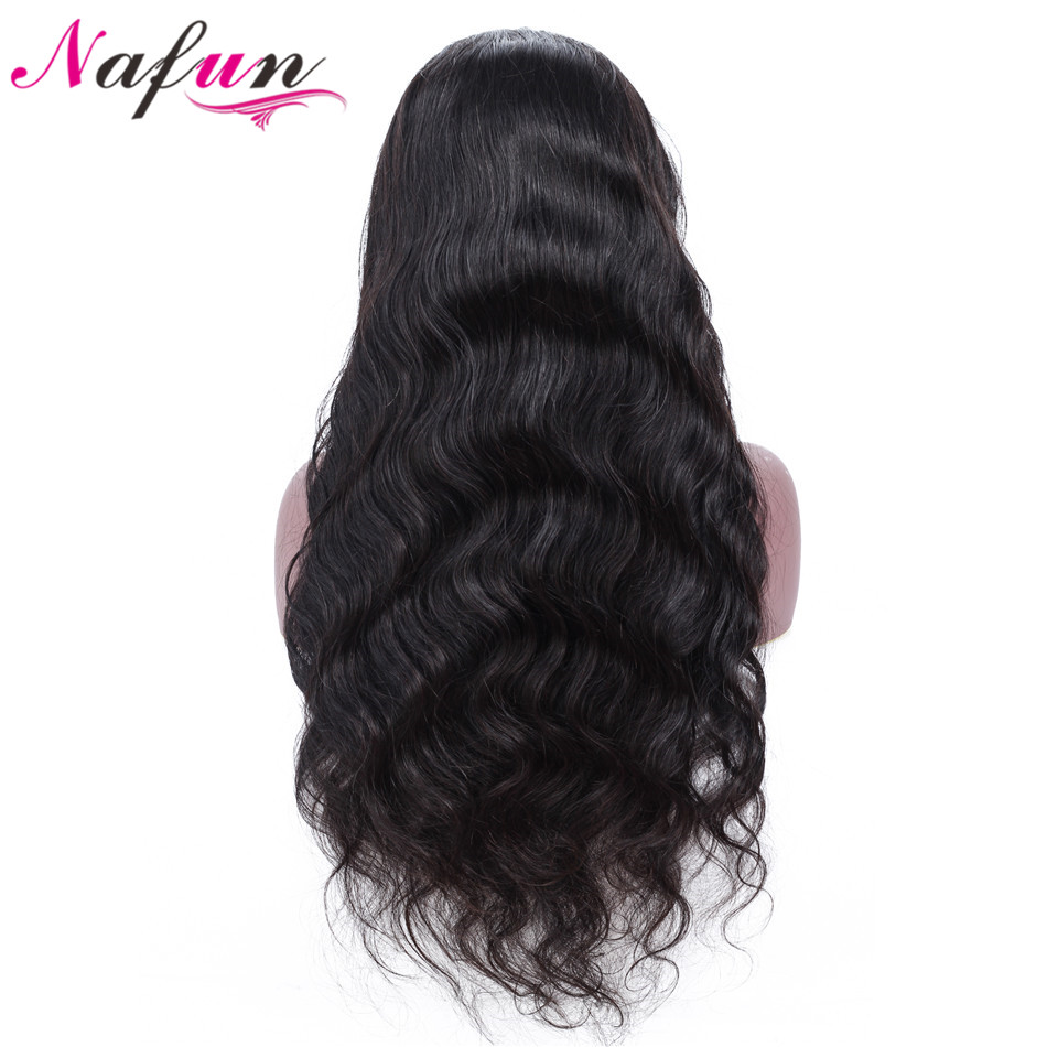 NAFUN Lace Front Human Hair Wigs For Black Women Malaysian Remy Human Hair Body Weave Wigs