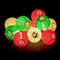 2017 Lantern Ball String Lights 20 LED Solar Lamp Outdoor Lighting Fairy Globe Christmas Decorative Light