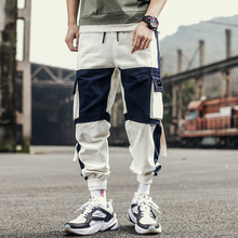 Men cargo pants 2019 new arrival spring and autumn cotton fashion pockets male ankle-length hot sale Korean style n25