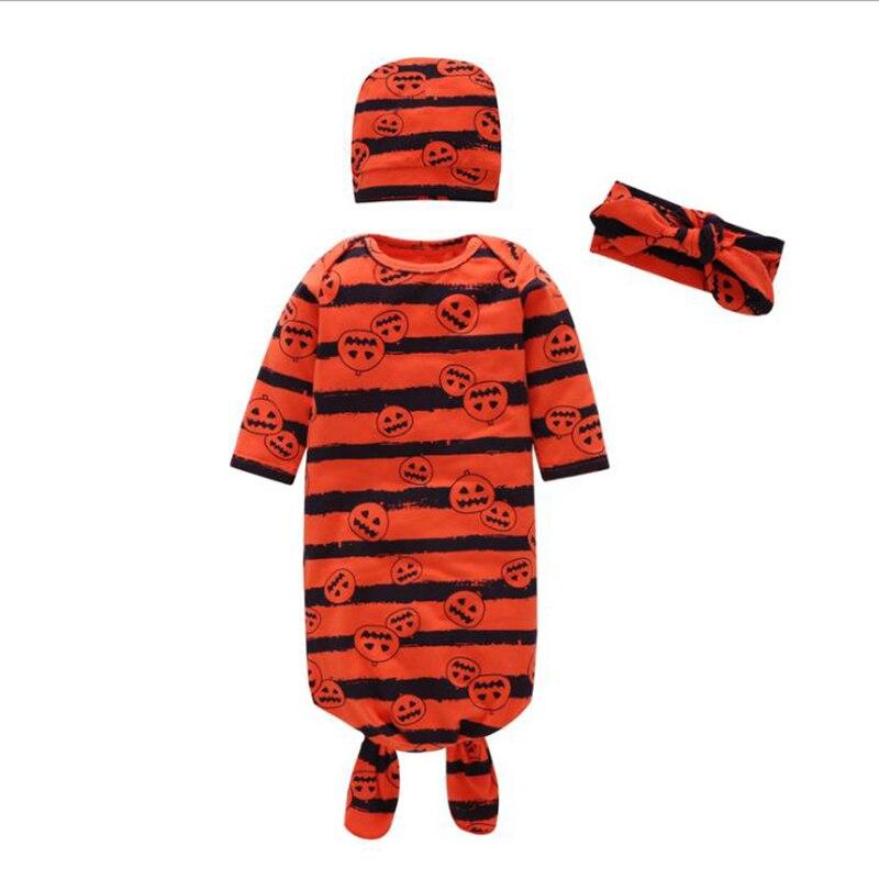 Neugeborenen Baby Decke Schwellen + Hut + Stirnband Set 100% Baumwolle Gestreiften Schlaf Kleid Infant Baby Mädchen Jungen Anzug Für Babys Nachtwäsche Einen Effekt In Richtung Klare Sicht Erzeugen