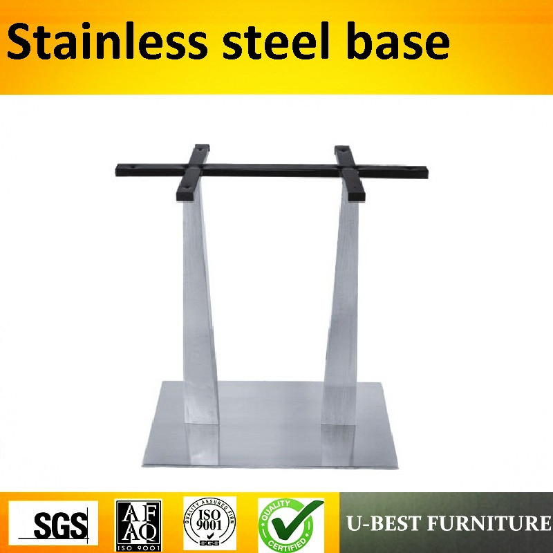U BEST Simple Design Square Stainless Steel Dining Table Base - Stainless steel dining table base suppliers