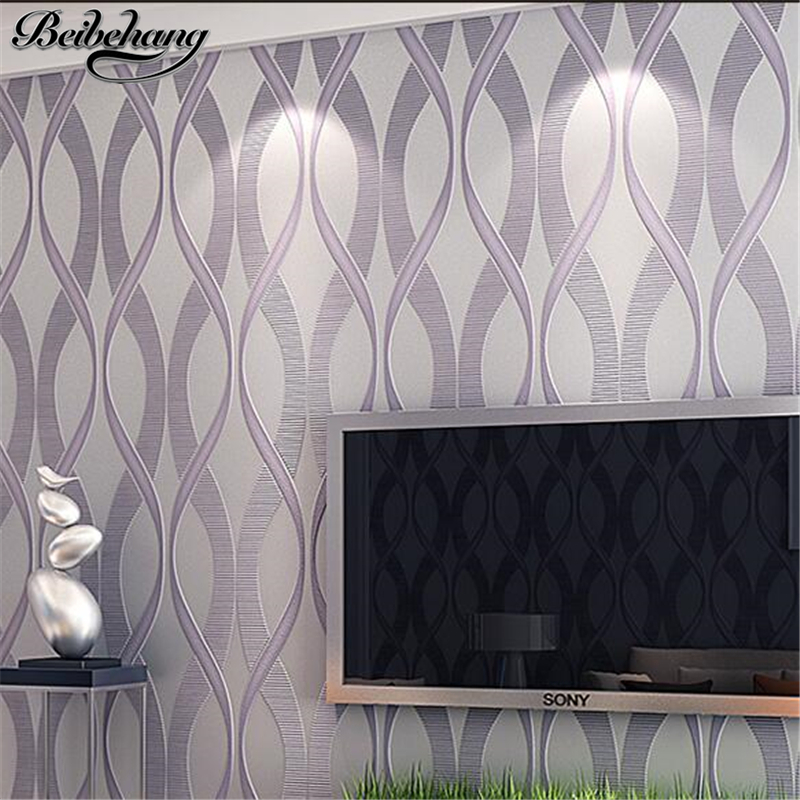 beibehang European Style Mural For Non-woven Wallpaper Modern Living Room Simple Of Wave Design Wall Paper 3d Papel De Parede free shipping european tv background wall painting non woven wallpaper living room wallpaper modern rose wallpaper mural