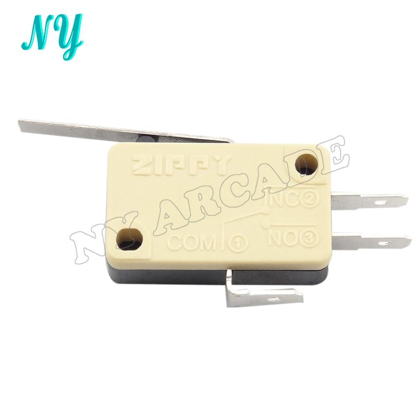30 Pcs ZIPPY Product Yellow Three Terminals  Micro Switch For Arcade Joystick
