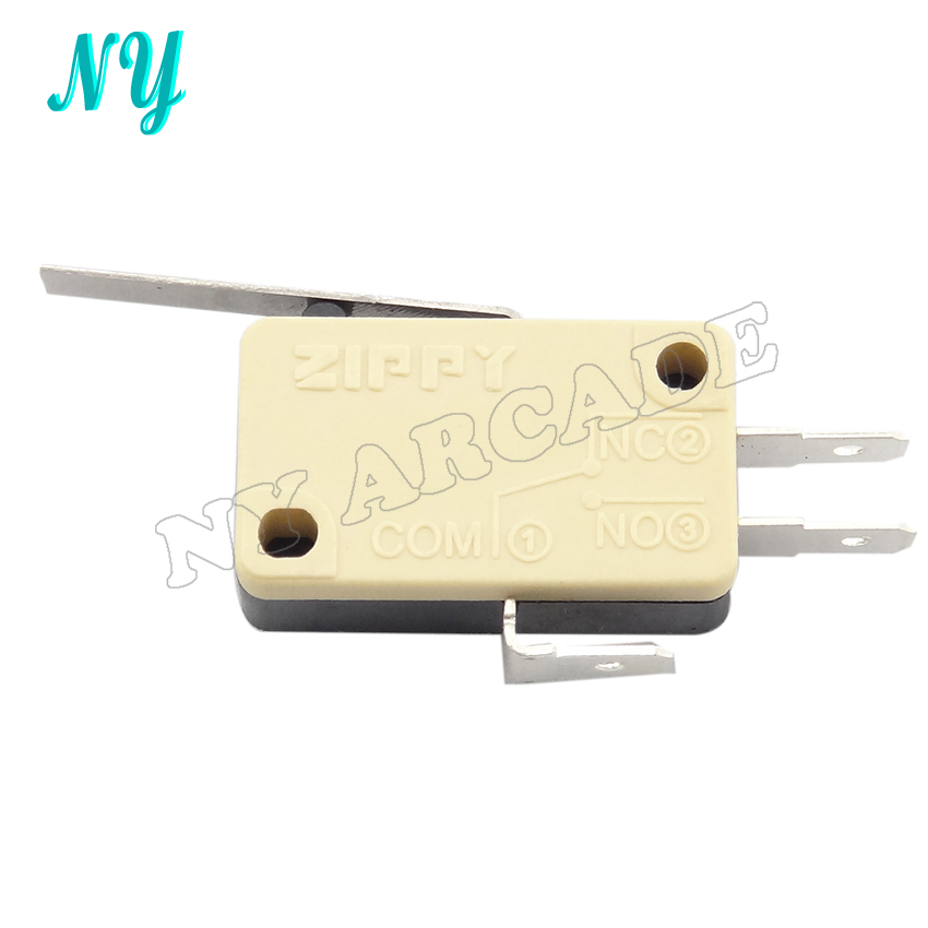 30 pcs ZIPPY product yellow three Terminals Micro Switch for arcade joystick(China)