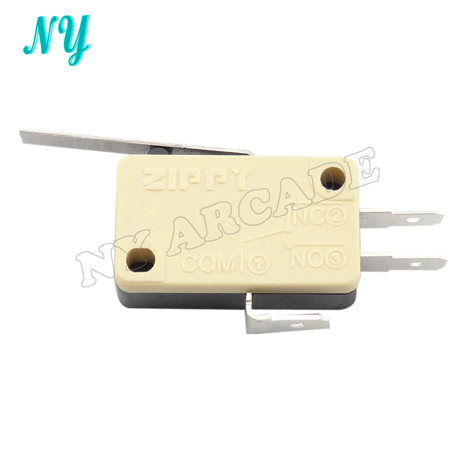 30 pcs ZIPPY product yellow three Terminals Micro Switch for arcade ...