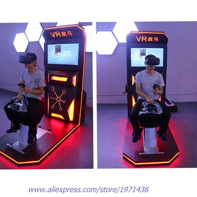 77eb085d93d 9D VR Amusement Equipment War Horse Riding Arcade Machine Simulator Gun  Shooting Game Machine-in Coin Operated Games from Sports   Entertainment on  ...