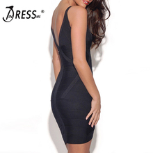 INDRESSME Fashion Women Bandage Party Dress Sexy Spaghetti Strap Deep V Backless Mini Autumn Women Dress Femme Vestidos 2017 New
