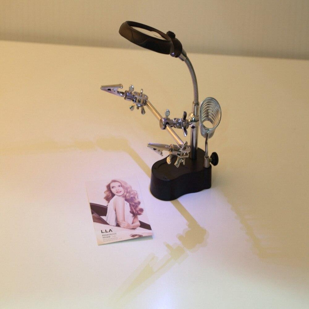 ACEHE Lupe Mit Led-leuchten 3.5x & 12X dritten Dritten Hand Lötkolben Ständer Helping Schraubstock Clip Werkzeug großhandel