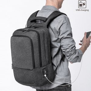 "Image 5 - KAKA Casual Men Backpack USB Charge Large Capacity Travel bag 15.6"" Laptop Backpack schoolbag for teens mochila women back pack"