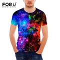 FORUDESIGNS Cool 3D Galaxy T Shirt Casual Men's Summer Man Slim Fit T-Shirt Fashion Universe Stars Tshirt Men Short Sleeve Tees