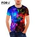Forudesigns cool 3d galaxy t camisa de los hombres ocasionales de verano hombre Universo Estrellas Hombres Camiseta de Manga Corta Slim Fit Camiseta de La Manera Tees