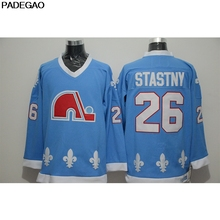 2018 Mens Retro 1990 Quebec Nordiques Peter Stastny Stitched Name Number Throwback  Hockey Jersey(China) f7adafd5b