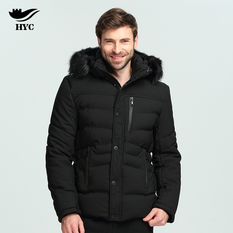 HAI YU CHENG Parkas Winter Jacket Men Big Size Mens Windbreaker Nylon Long Coat Fur Hooded Jackets Male Cotton Padded Men Parka